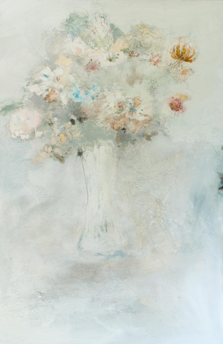 Spring Flowers in Crystal Vase|30x48