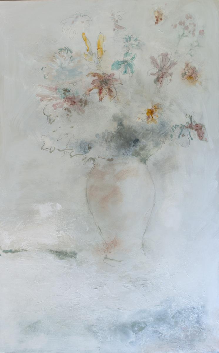 Spring Flowers in Porcelain Vase|30x48