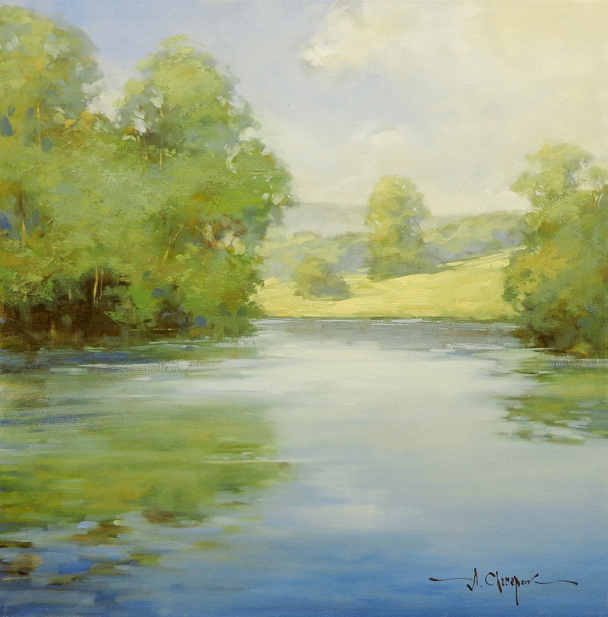 Blue River Calm|30x30