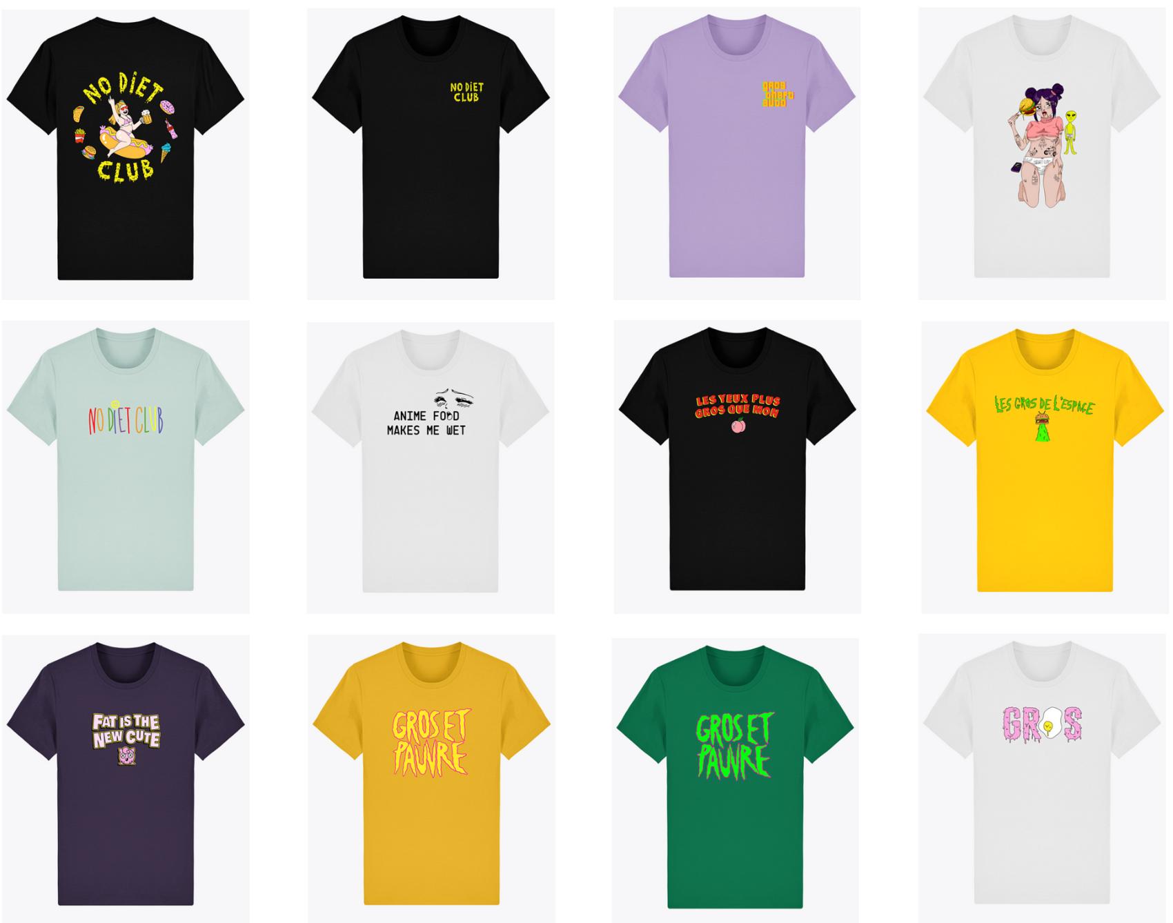 T-shirts NDC 🌭 - T-shirt collector No Diet Club100% coton organique pour protéger ta graisse et ne pas irriter tes tétons.T-shirt bio personnalisé ajusté à col rond en single Jersey. Grammage 155 g/m². Made in France (pour de vrai)Autres couleurs disponibles.