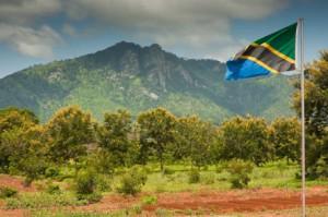 The Uluguru Mountains provide a beautiful backdrop for SEGA's campus