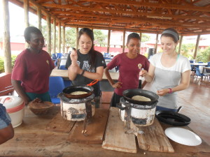 SEGA students teach AIS students how to make chapati, a traditional Tanzanian flatbread. Yum!