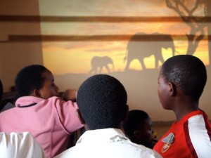 Students learn about elephant preservation in Tembo Club.