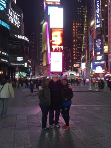 Esther and Jacqueline visiting Times Square with Nurturing Minds Advisor (and Esther's sponsor) Amanda Opinsky.