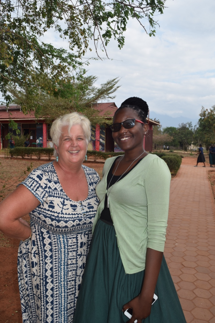 Tina Johnson with SEGA's Communications Coordinator, Rhona.