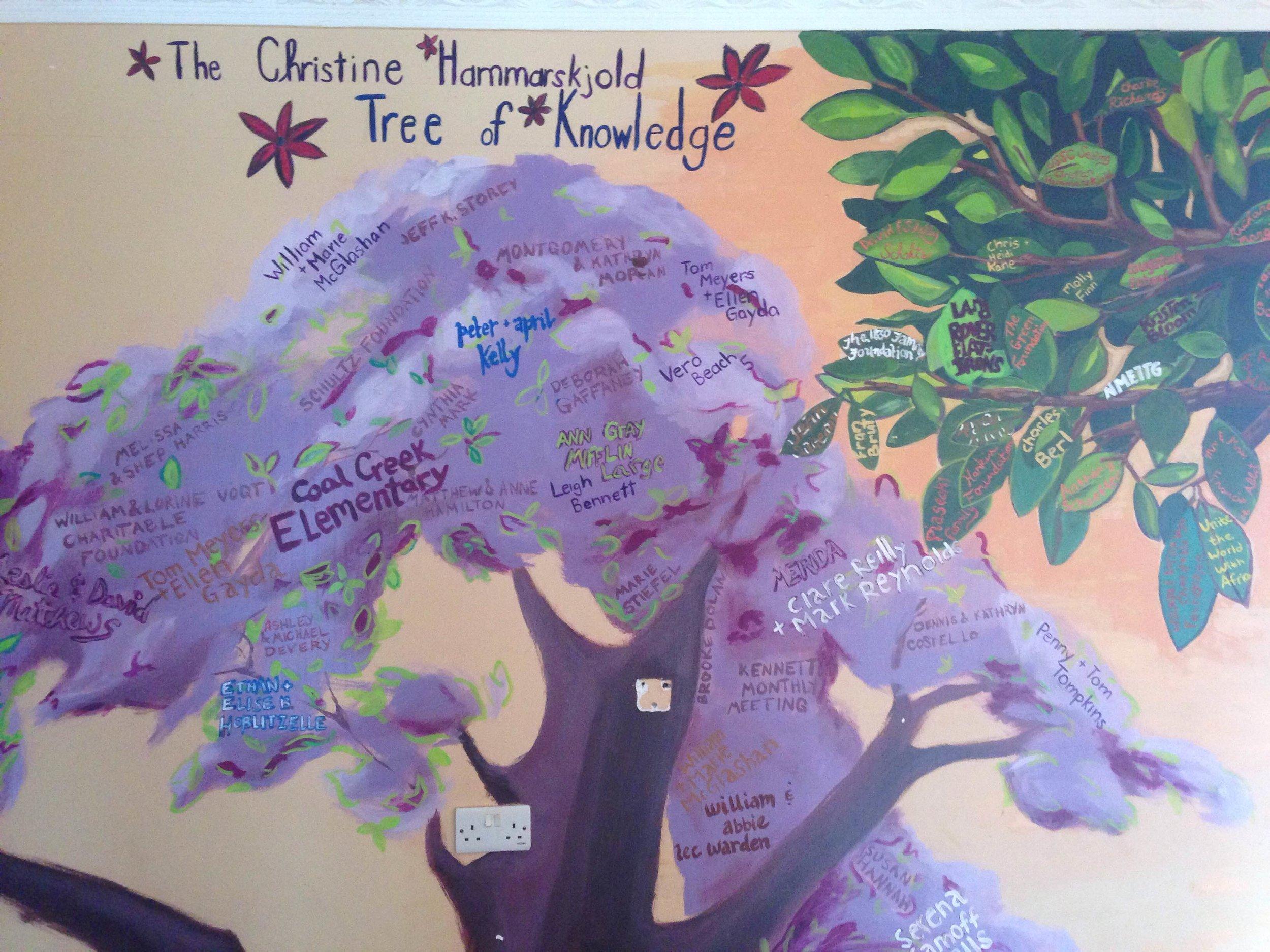 The Tree of Knowledge mural at SEGA