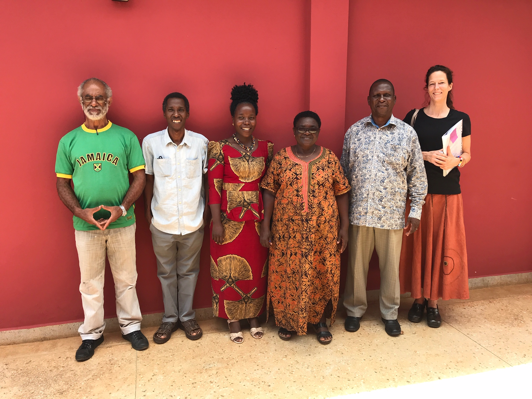 The SEGA Board of Directors in January 2019. From Left to Right; Lascelles Chen, Oscar Mlowe, Laina John Mwandoloma, Hellen Nkalang'ango, Blastus Mwizarubi and Polly Dolan. Not pictured: Demetrius Malopola.