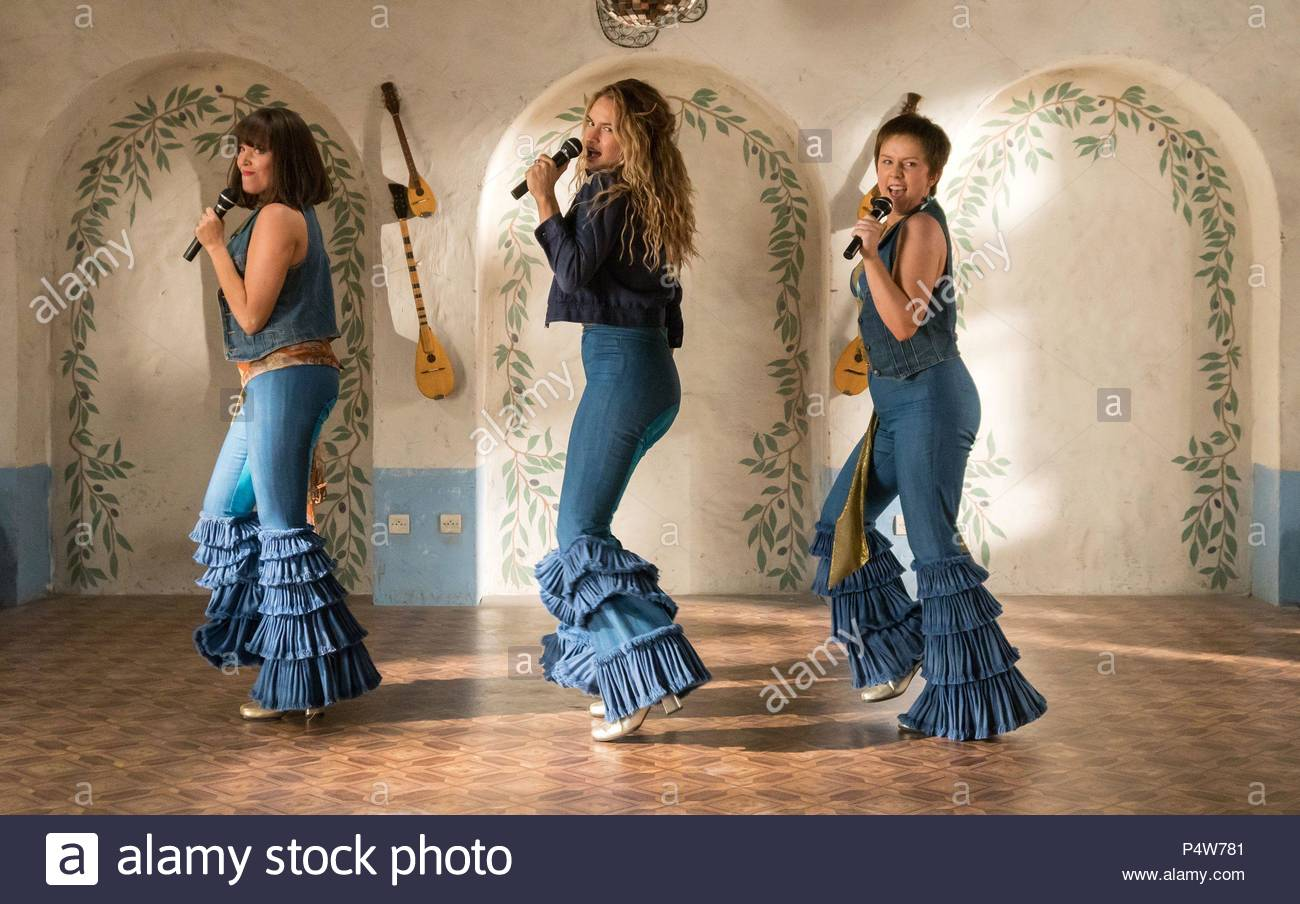 """Jessica Keenan, Lily James and Alexa Davies play the young Rosie, Donna and Tanya in """"Mama Mia: Here We Go Again."""""""