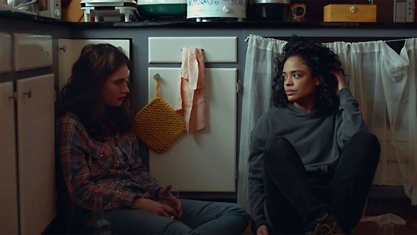 """Lily James and Tessa Thompson star in """"Little Woods,"""" about two sisters struggling with life-altering decisions in a small North Dakota fracking town.."""