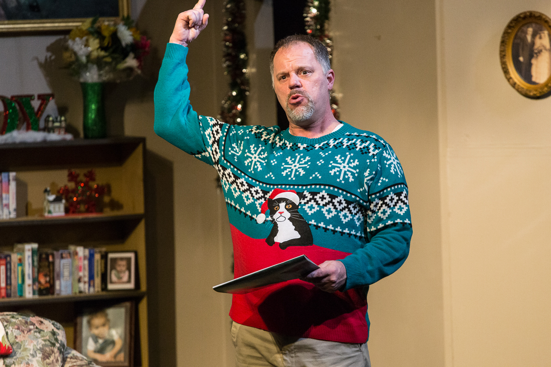 """Mike Owens plays the Christmas-loving Bill Bickford in Waukesha Civic Theatre's """"Candy Cane Tales and Holiday Tales."""""""