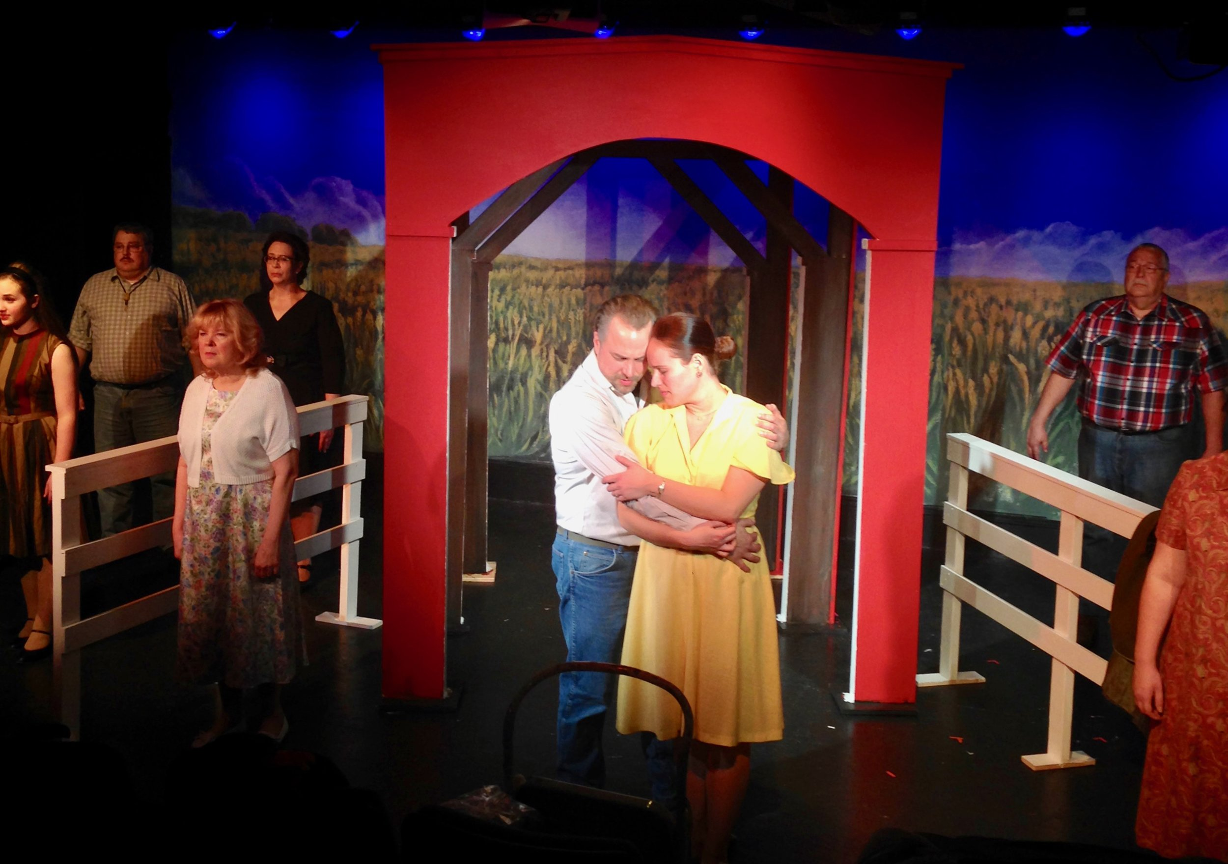"Katie Berg and Eric Madson are featured in Lake Country Playhouse's ""Bridges of Madison County."""