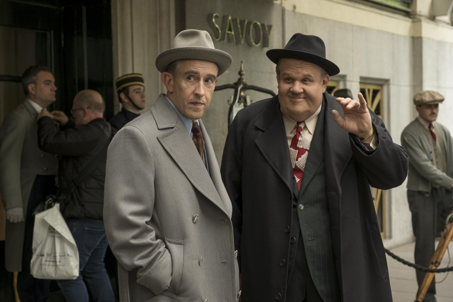 "Steve Coogan and John C. Reilly star as Stan Laurel and Oliver Hardy in the film ""Stan and Ollie."""