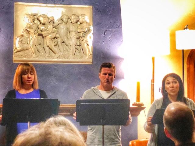 "Sandra Hollander, Matt Specht and Ericka Wade present a concert reading of Will Eno's ""The Realistic Joneses"" at Plymouth Church."