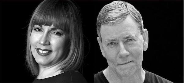 "Sandra Hollander and David Ferrie play Jennifer and Bob in Boulevard Theatre's ""The Realistic Joneses."""