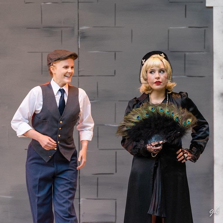 """Katie Lynne Krueger as Viola/Cesario appears I n a scene with Mary Jensik as Olivia in SummerStage's """"Twelfth Night."""""""
