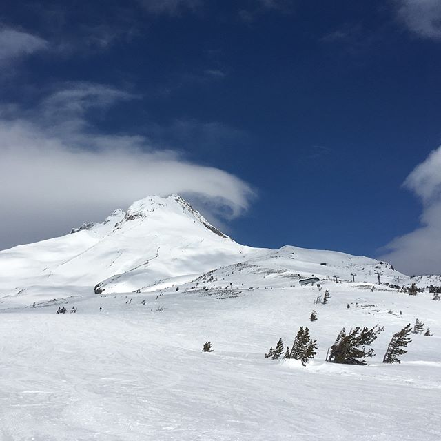 Mama Mt. Hood cleared the skies for my staycation.  #mthood #oregon #ski #staycation #betweenfilms