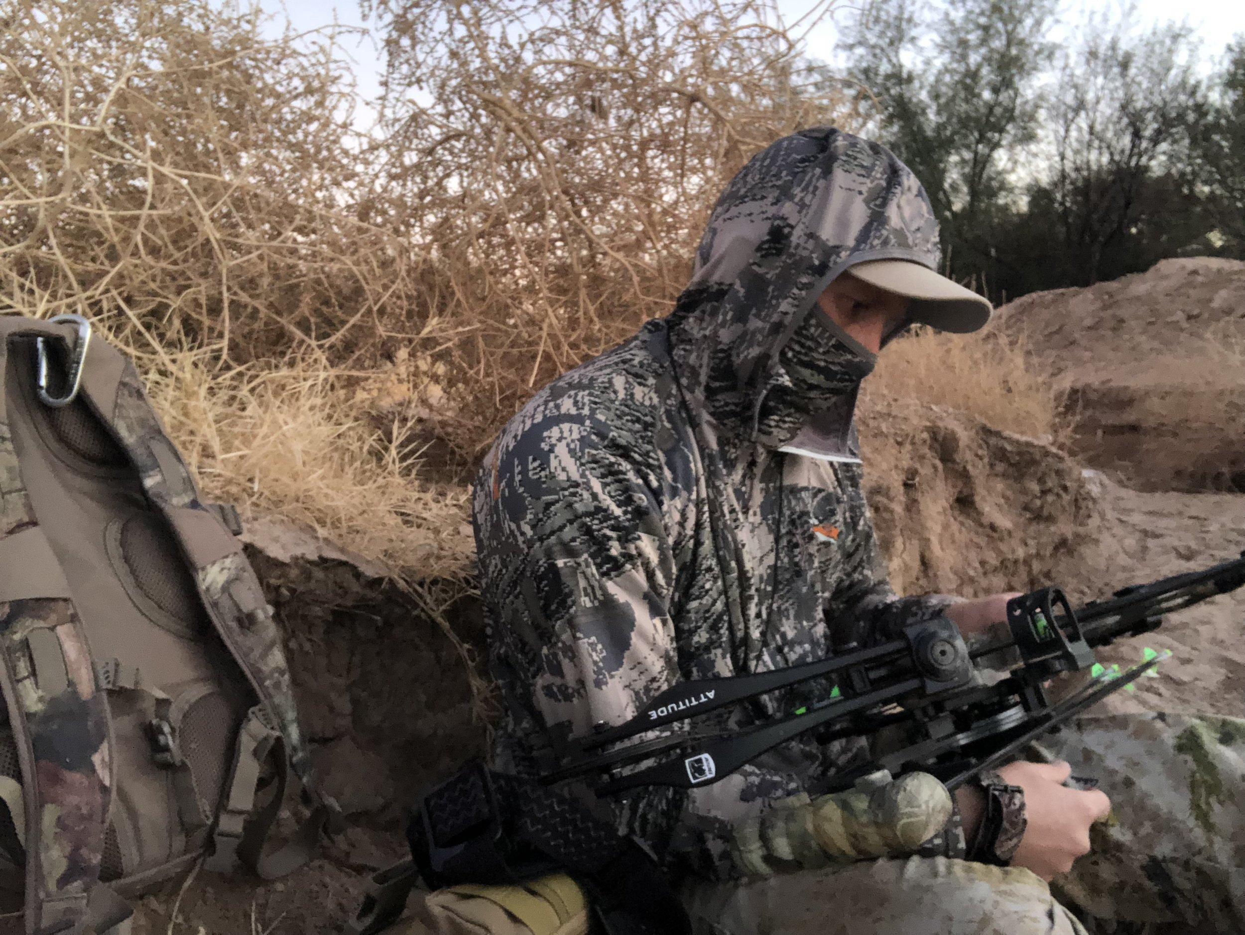 The despondent hunter contemplates his life...