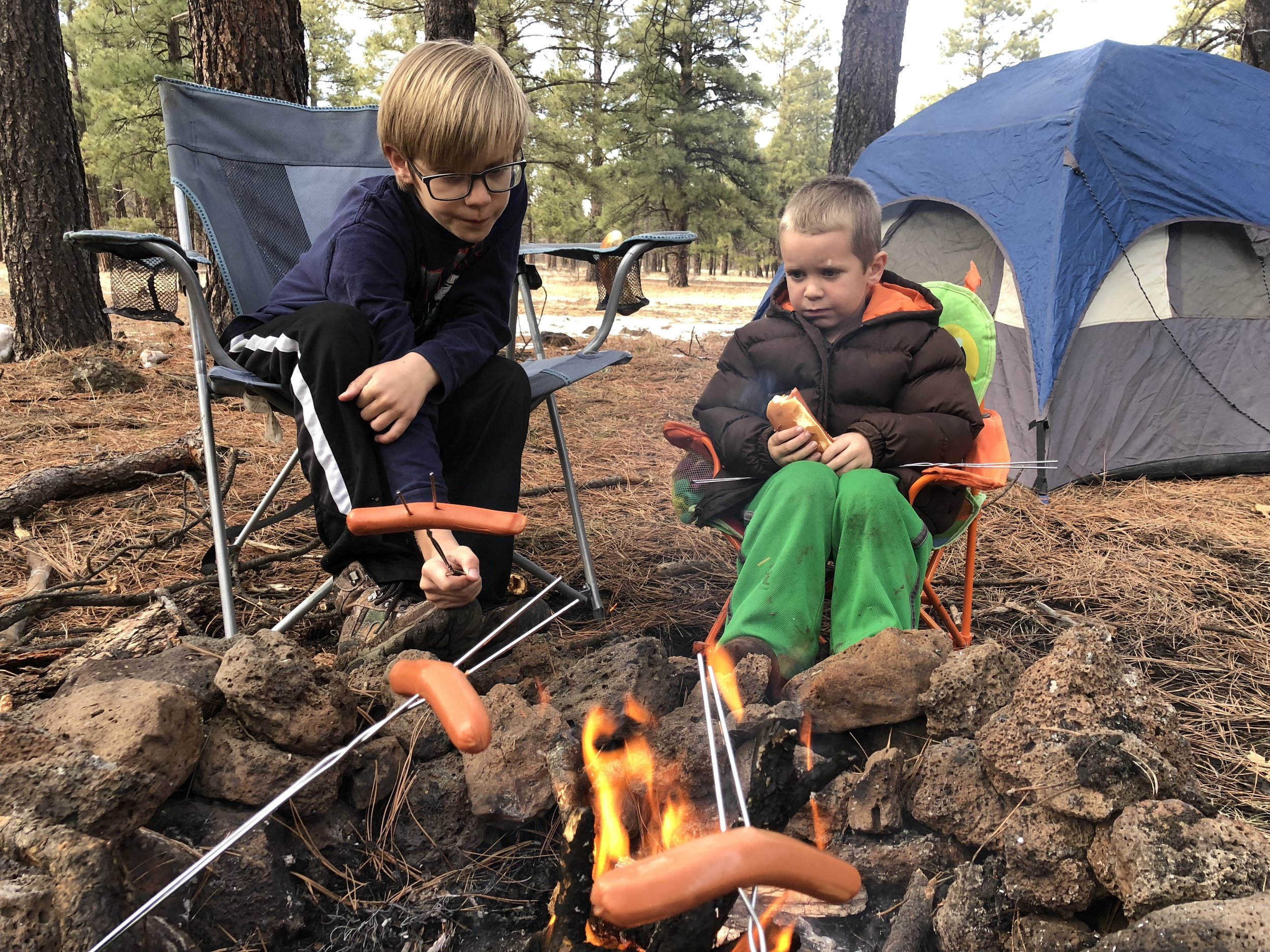 Everything tastes better cooked over a campfire!