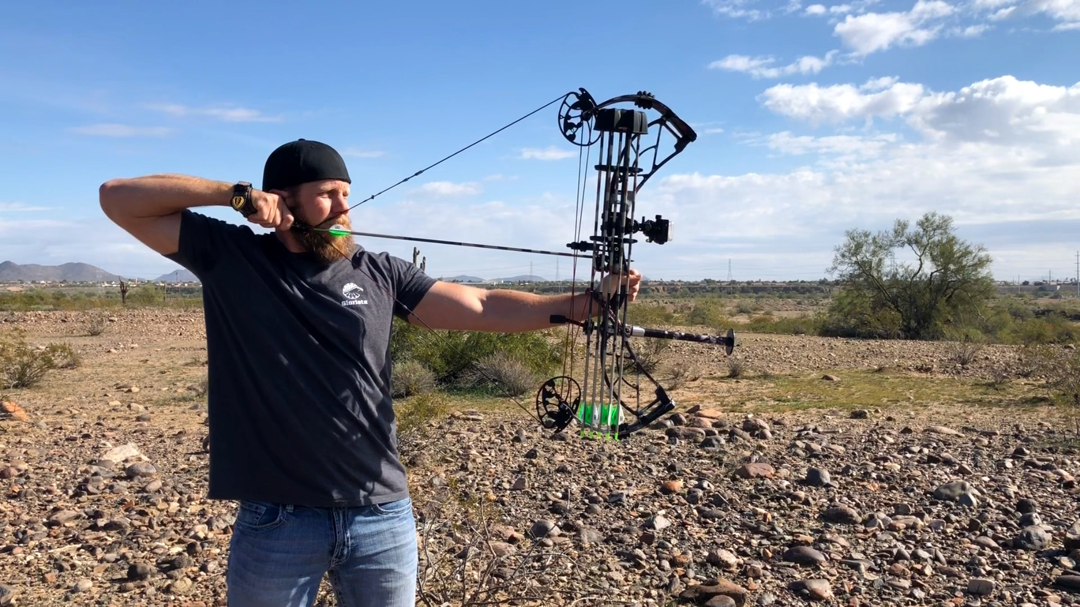 First shot after re-string and tune at my new favorite bow shop!