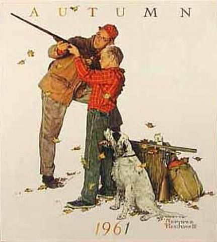 What we all THINK will happen when our kids hit that age. (CREDIT: Norman Rockwell)