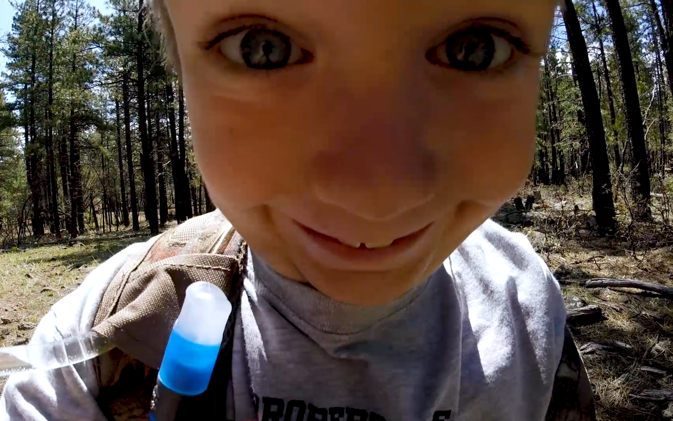 At one point, I let him carry the GoPro…this is just a tiny portion of the ridiculousness I got back!
