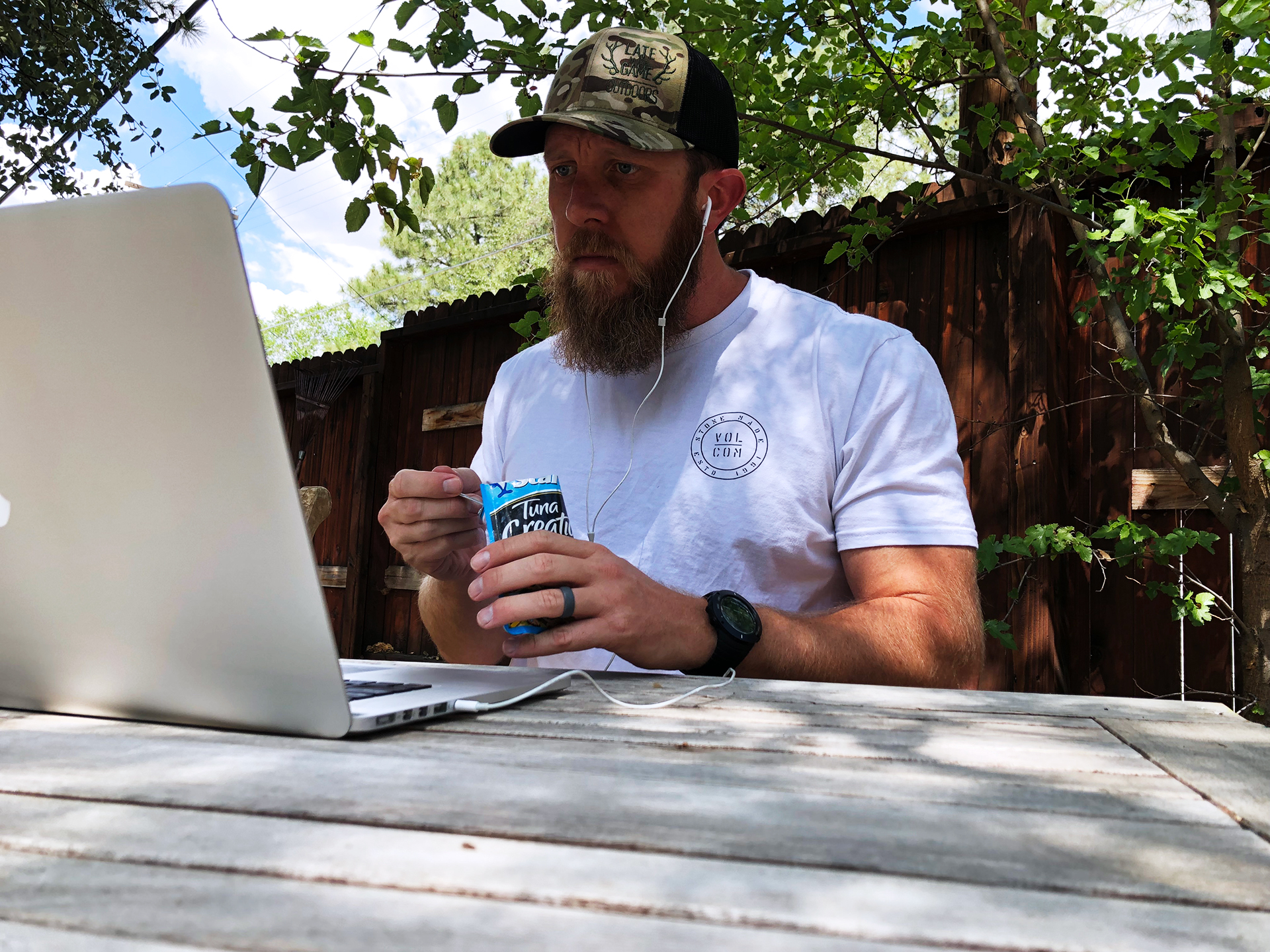 You can't really keep typing while eating lunch anyway…might as well find a nice quiet spot and digest some quality hunting info while you stuff your face!