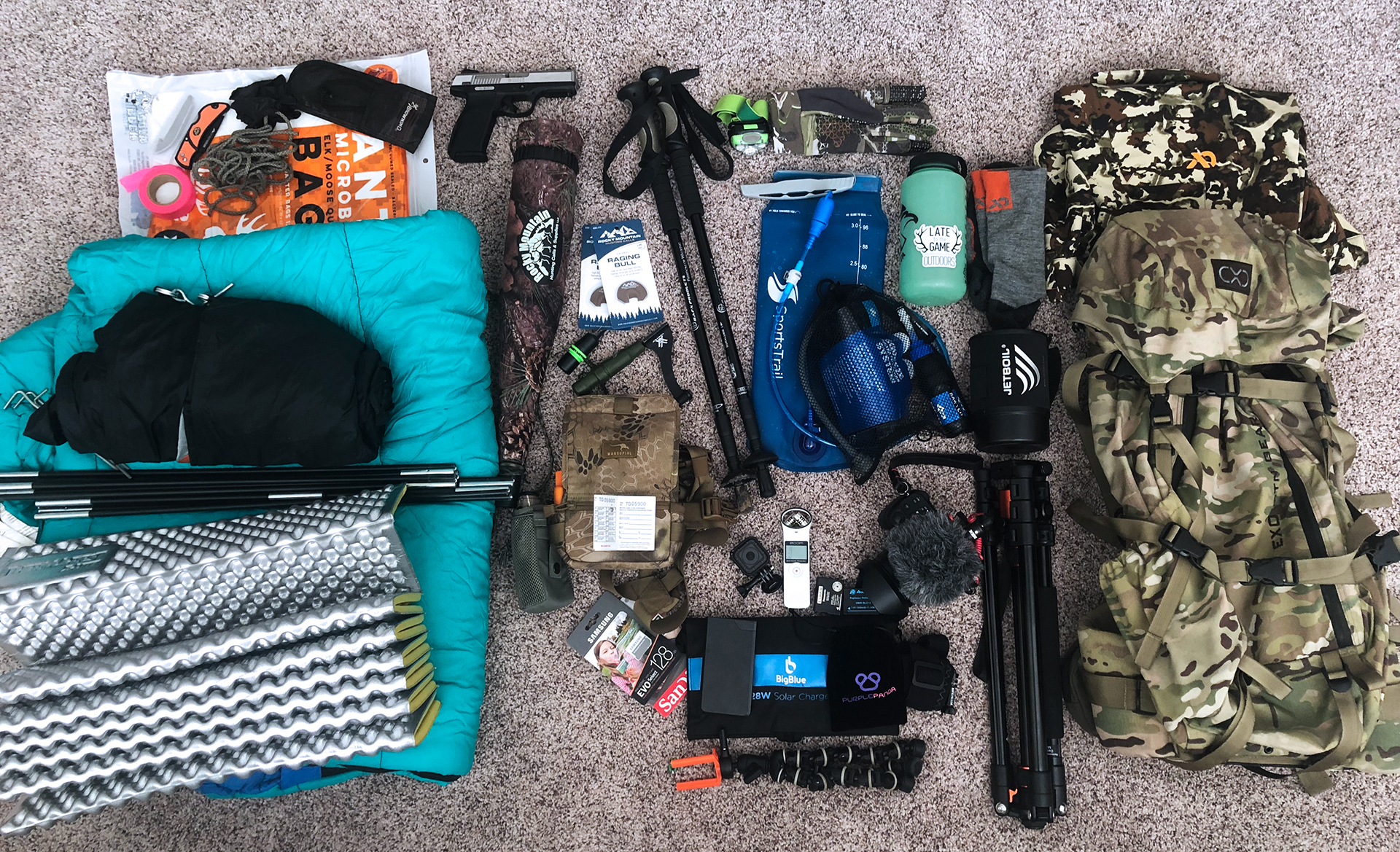If it looks like a lot of stuff, that's because it is…but that Exo Pack makes it all feel much lighter!