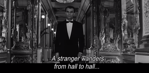 from Alain Resnais's  Last Year at Marienbad  (1961)