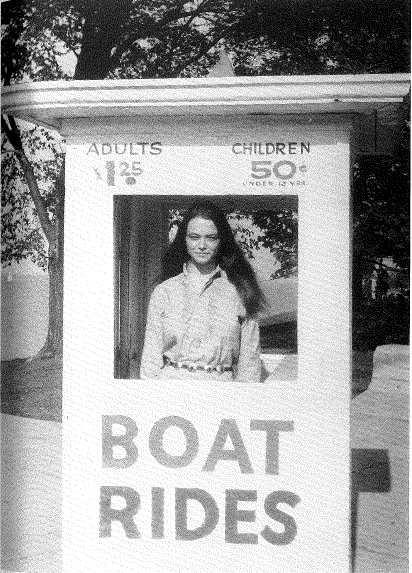 """BOAT RIDES from photo of author by Michael Brownstein taken Oct. 1969 in Chicago,"" from ""Some Credit Notes."""