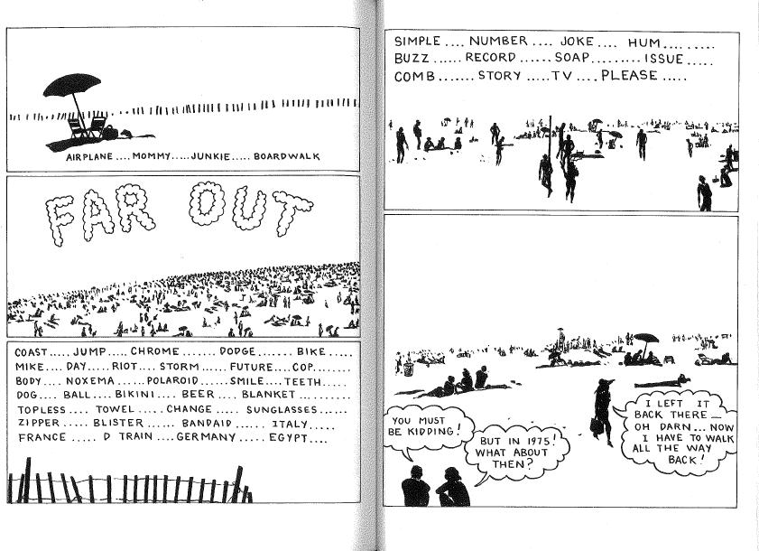 "Page 2-3: ""WHITE NOISE with Joe Brainard Calais Vermont 1969-NYC 1970."""