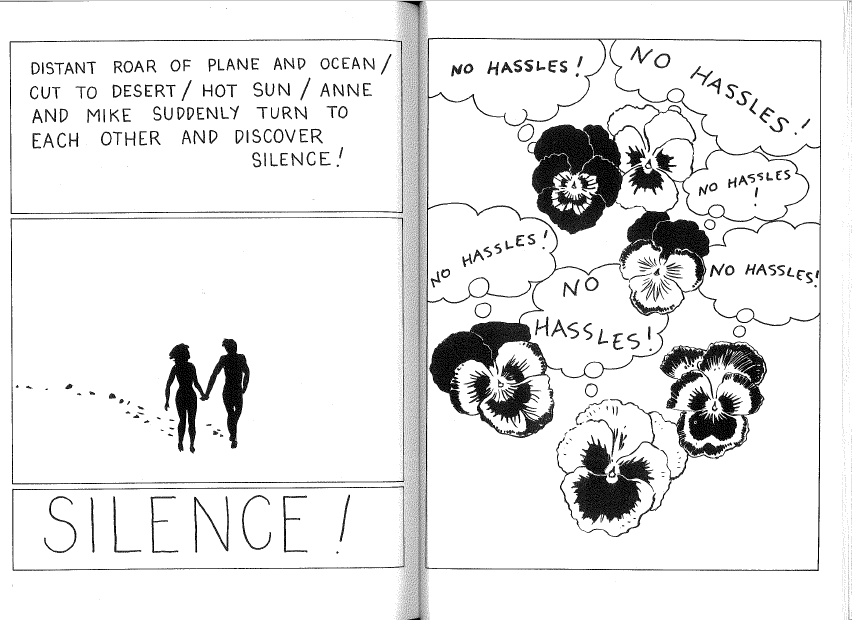 "Page 6-7: ""WHITE NOISE with Joe Brainard Calais Vermont 1969-NYC 1970."""