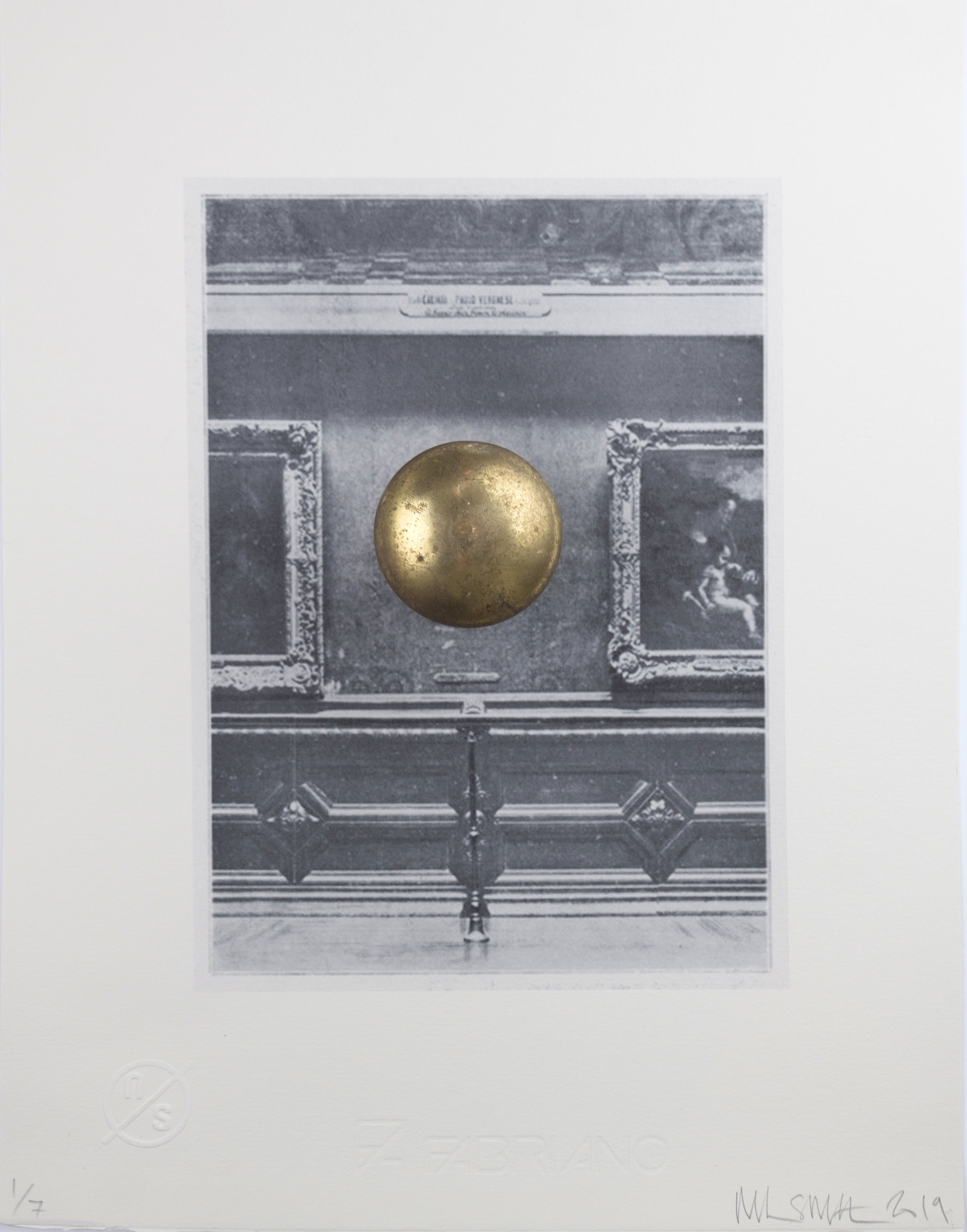 Louvre Wall with Door Knob (Mona Lisa)