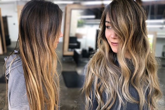 Before & After transformation by @rosathecolorista  Would you like to see more side by side transformation pictures? .  #lowmaintenancehair #instahair #brownbalayage #livedincolor #livedinhair #toffee #fashion #dfwstylist #dallassalon #hairstylist #dfwhair #trinitygroves #dallashair #dfwinfluencer #southsideonlamar #dallasbloggers #dallasevents #bishopartsdistrict #blushdallas #rosathecolorista #dallasartsdistrict #lovemyuptown #deepellum #thecedarsdallas #mydtd #addisontx #planotx #friscotx #blushdallas #dallashairscene