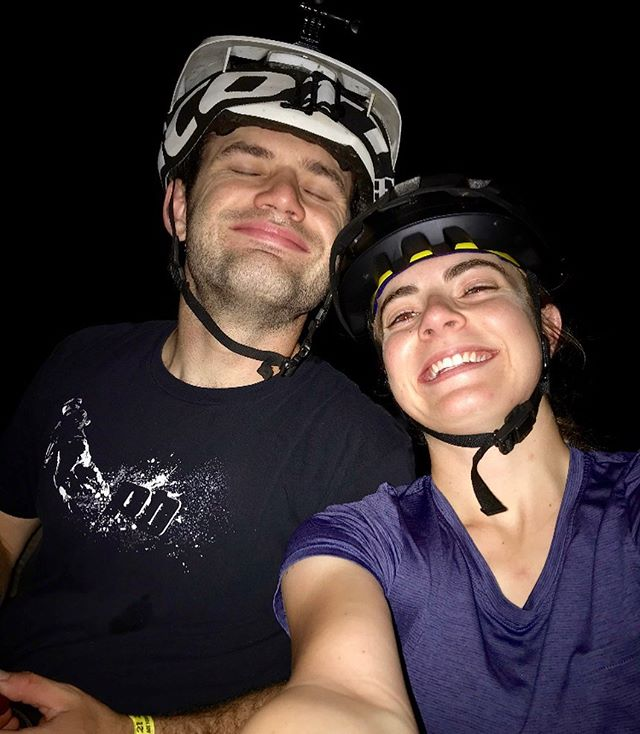 Just some goofs night riding and thankfully not being sprayed by skunks