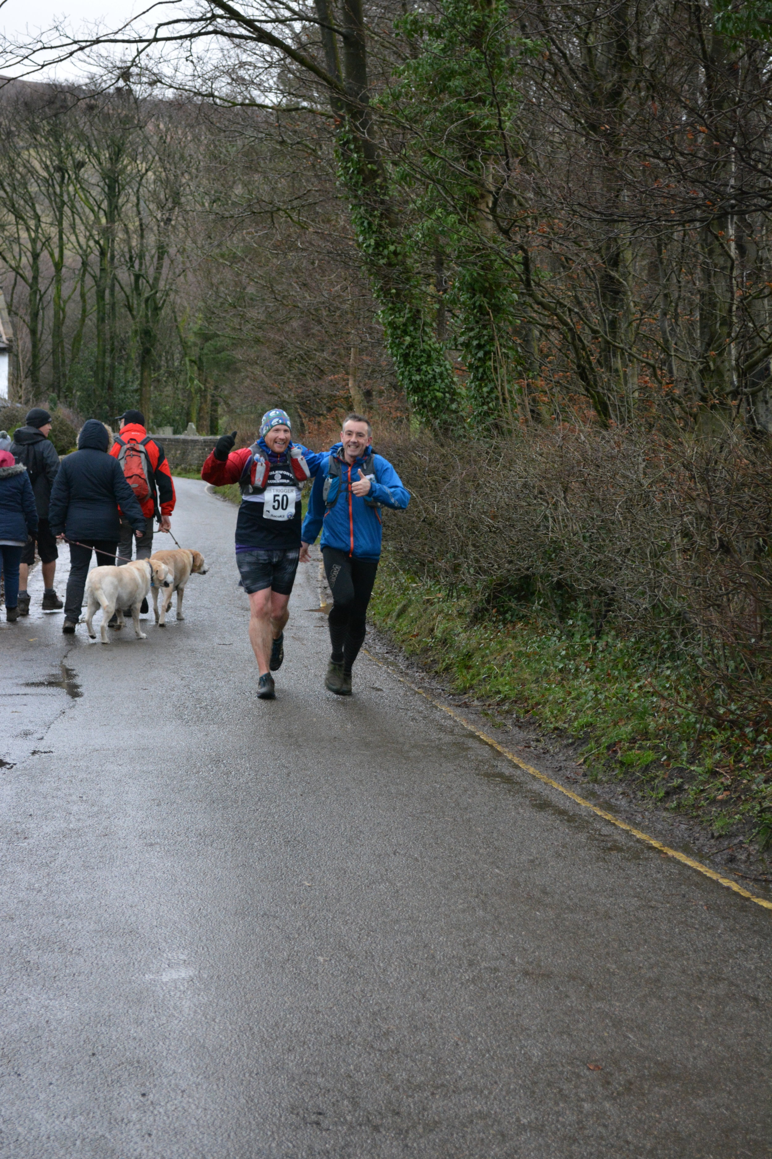 Trigger finish after 24.7 miles in Edale