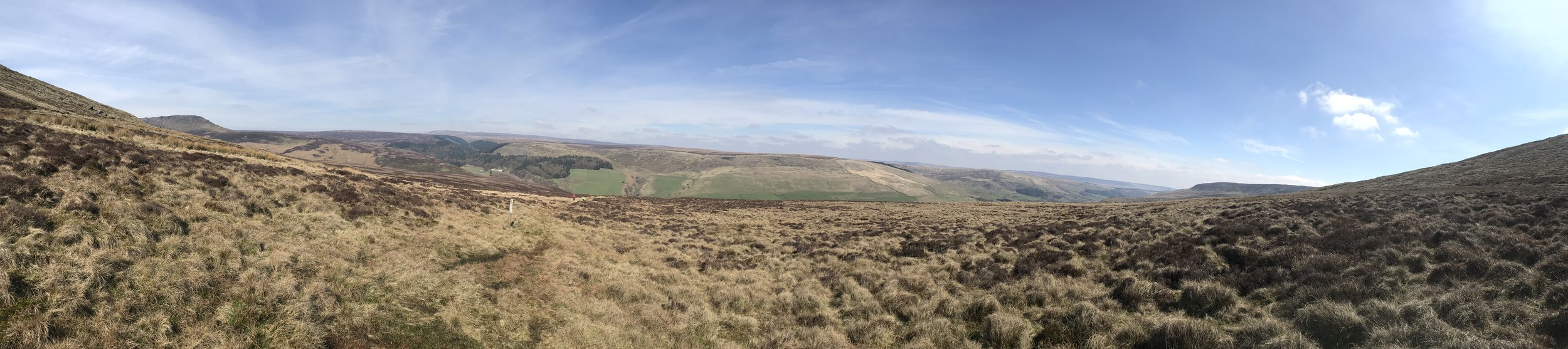 Looking down into Derwent Valley from below the summit of Seal Stones.