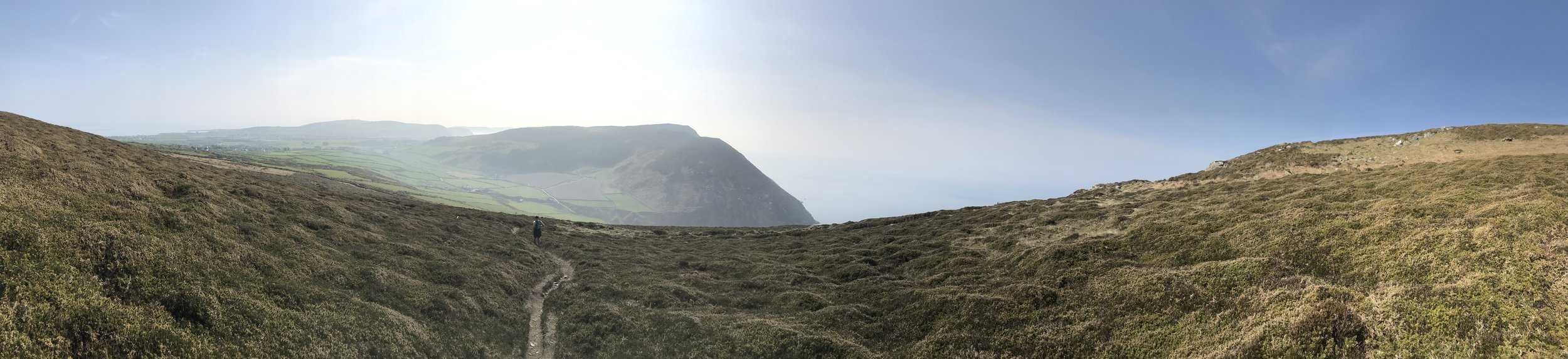 Port Erin to the top left of the photo. The shocker climb by the road directly ahead.