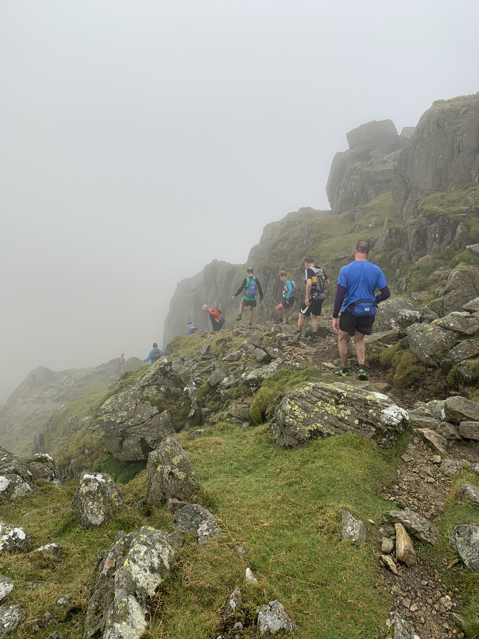 Descending Bad Step off Crinkle Crags.
