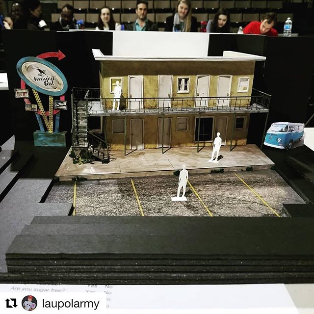 We are underway and SUPER inspired by our designers' stunning concepts for this show! Don't miss your chance to see AIRLINE HIGHWAY! . . . #Repost @laupolarmy with @get_repost ・・・ We not in Grover's Corners no mo'...I'm excited to start work on lighting Swine Palace's Airline Highway🛣🦆🎷🚴 opening this March! . . Set design model provided by Tara Houston @taralovestheatr #airlinehighway #swinepalace #assistantlightdesign #teamLX #batonrouge #batonrougeevents #livetheatre #gobr #batonrougelouisiana