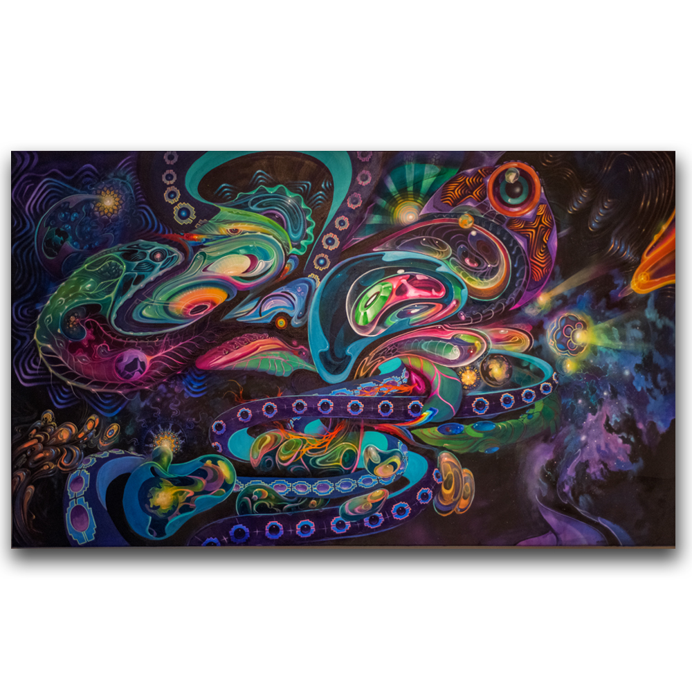 Lysergic Larvae - with Brian Scott Hampton, Eric Ward and Jonathan Solter6 ft x 10 ftAcryilic on Canvas