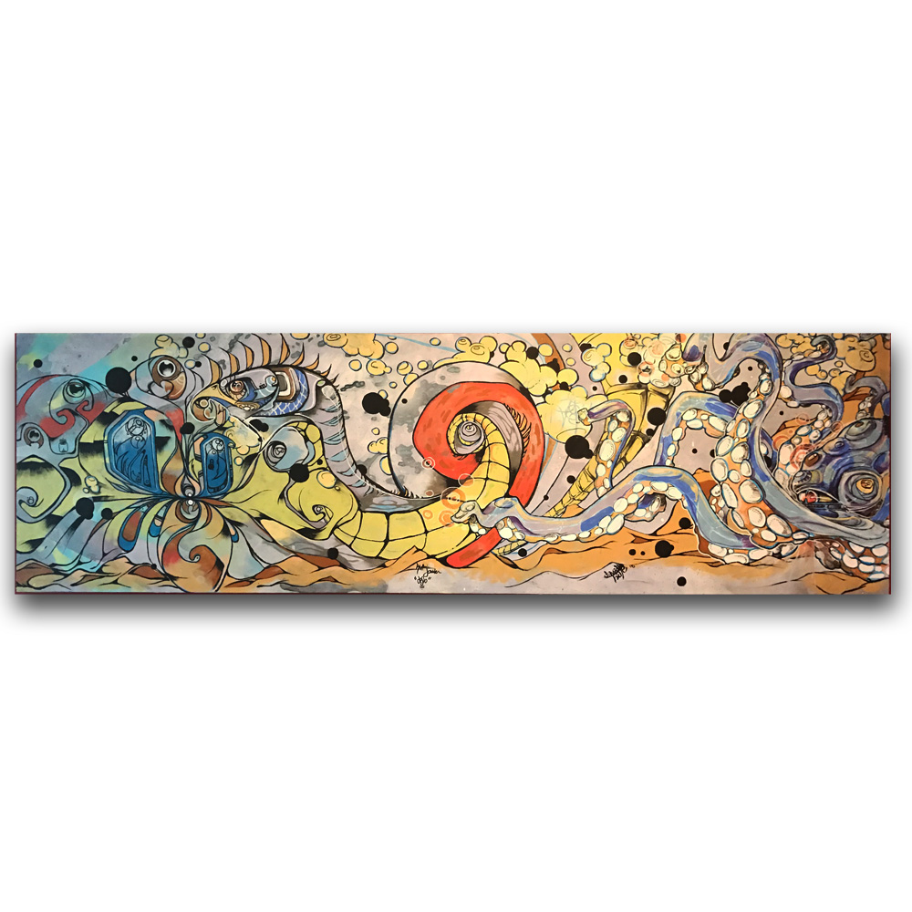 Sea Battle - with David Hale2.5 ft x 8 ftMedium