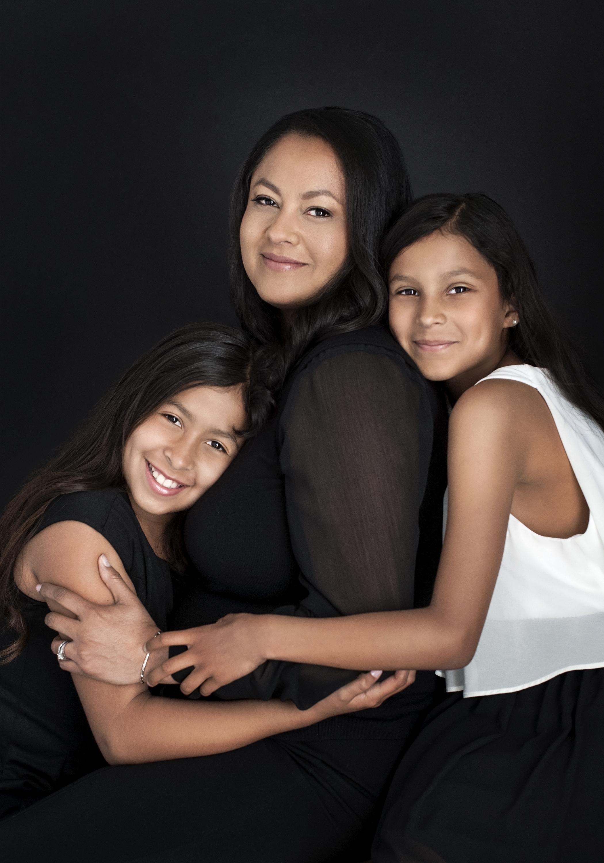 San Diego County Full Service Portrait Studio | Dark Background Family Photo