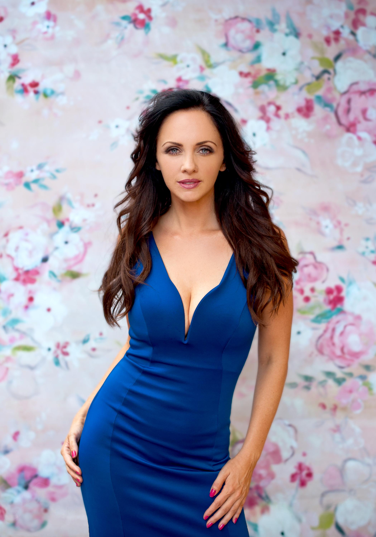 San Diego County Full Service Portrait Studio | Blue Dress Model