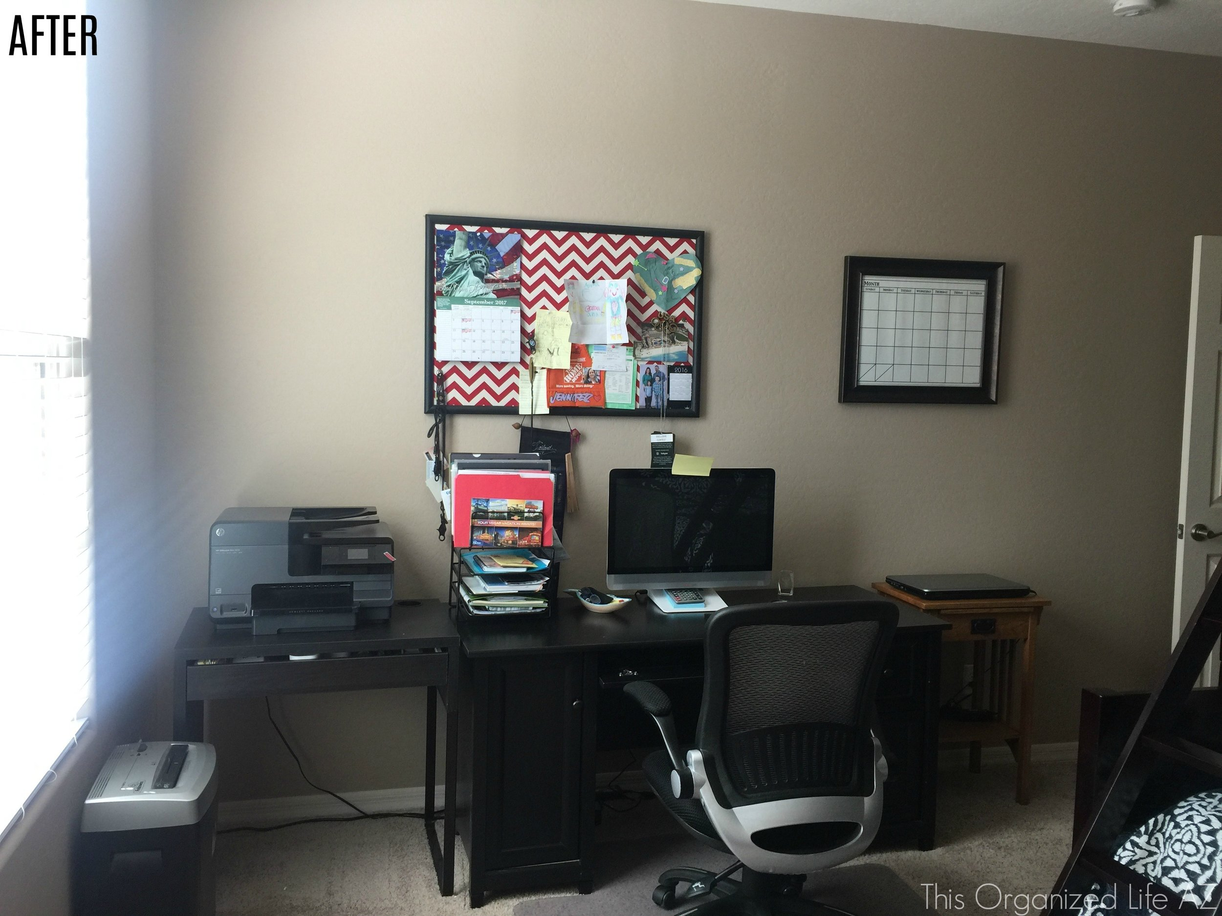 Home office organization by AZ professional organizer This Organized Life AZ