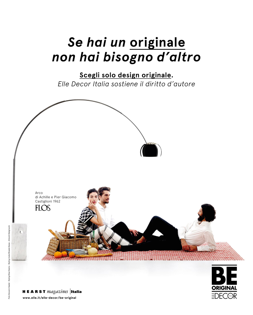 Elisa Ossino Studio —  Elle Decor — Be Original Campaign  — ADV