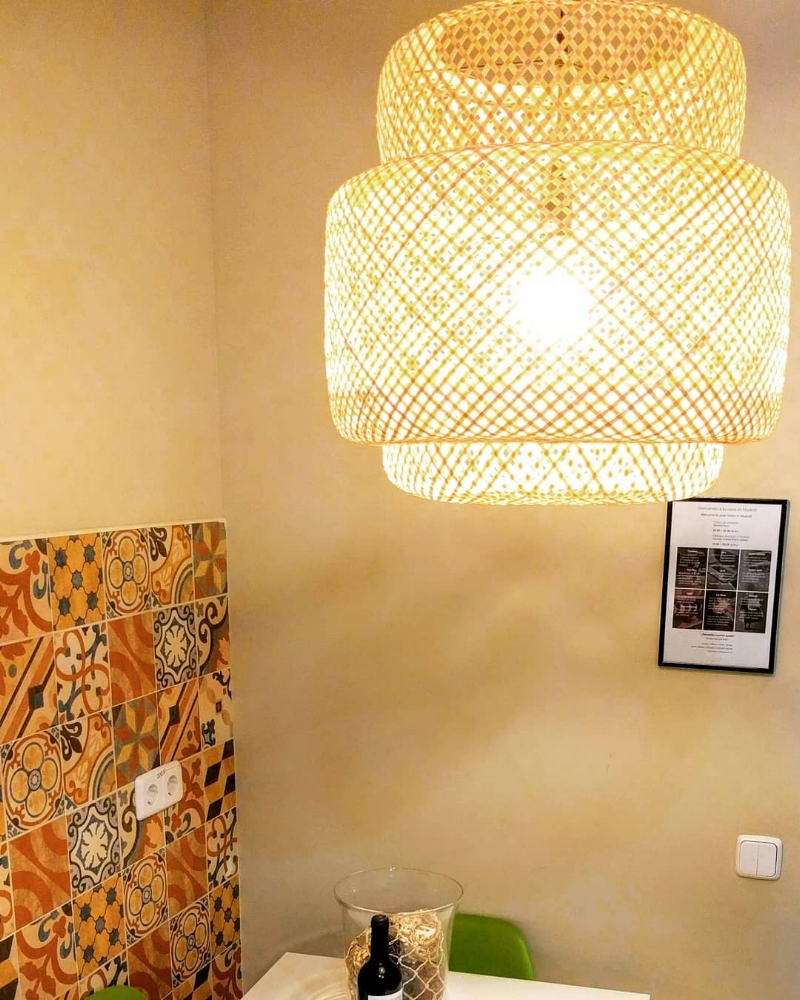 Lámparas de bambu - Modelo cilíndricoLámparas de techo de formas ideales y redondeadas.