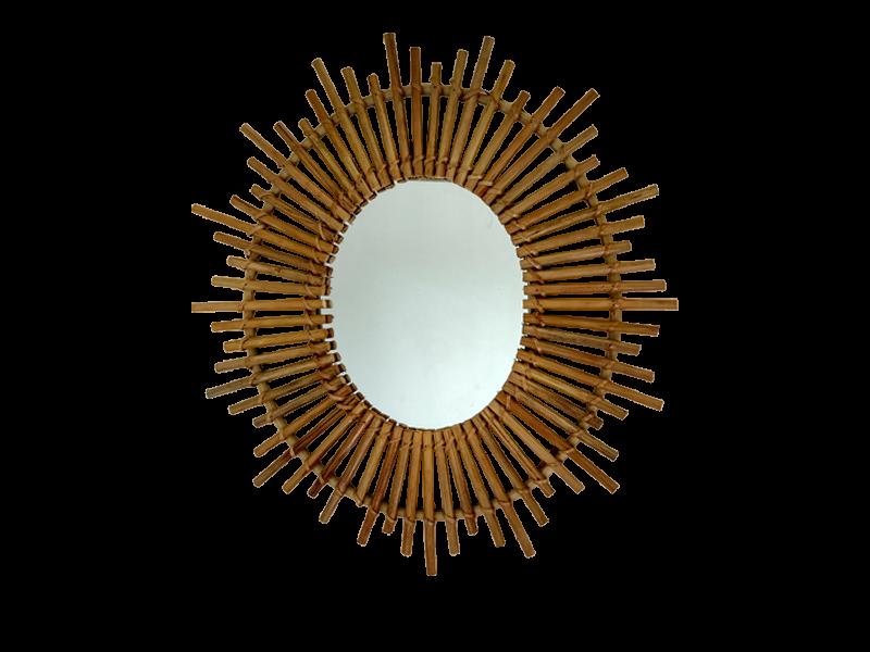 Espejo de bambu - Espejo de pared decorativo, modelo ovaladoDiferentes modelos, tamaños y colores.