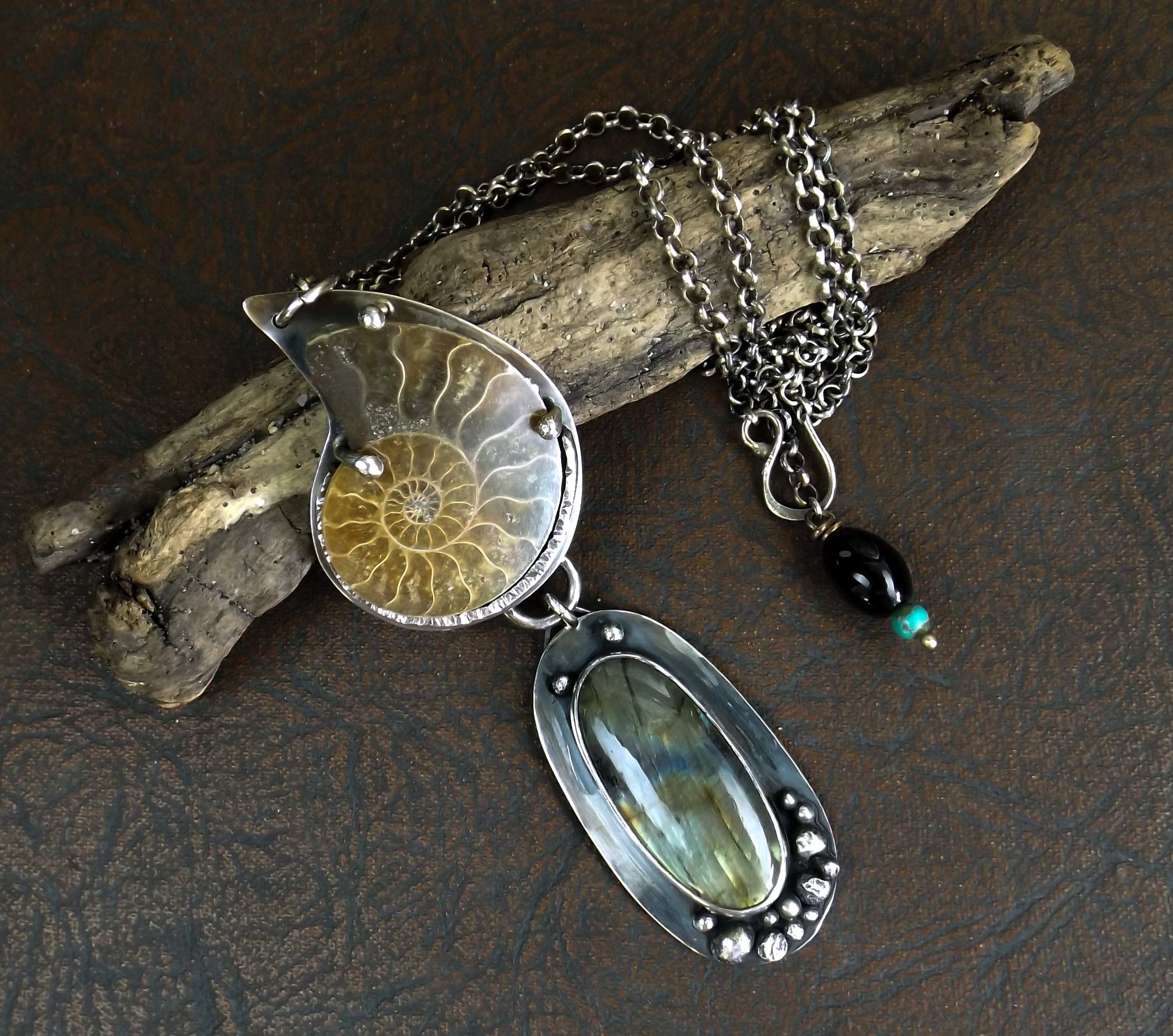 This is a gorgeous, dramatic necklace! I can't wait to have a chance to wear it. Artist was very helpful. These two amazing necklaces are my first purchases from this shop. I would certainly buy from them again.  -Christine K