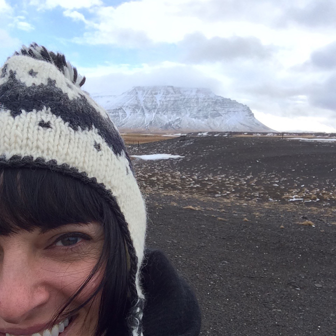 Melissa in Iceland