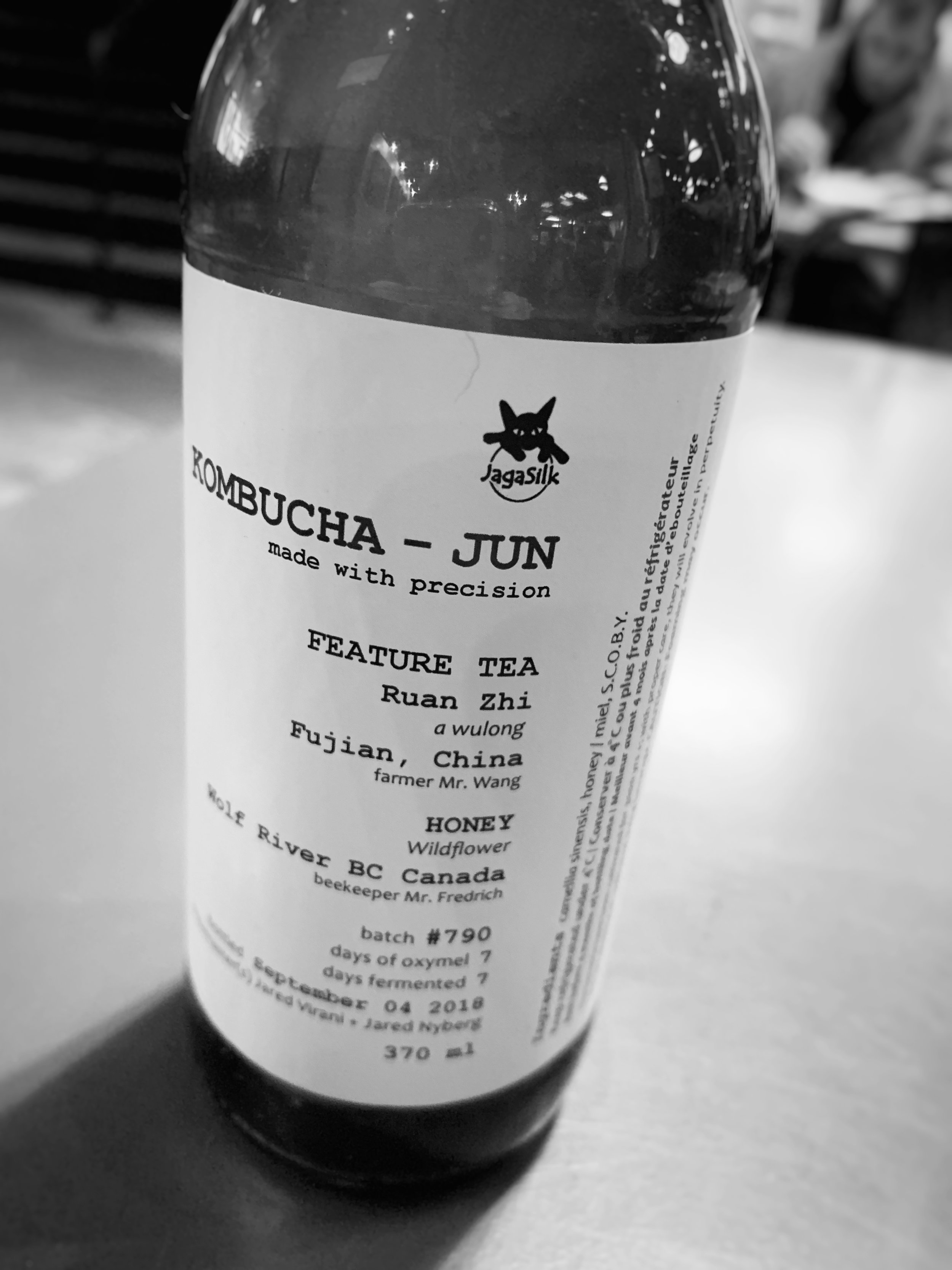 Locally made jun kombucha by JagaSilk